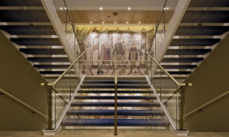 Replica Bayeaux Tapestry on-board Viking Star // © viking cruise lines