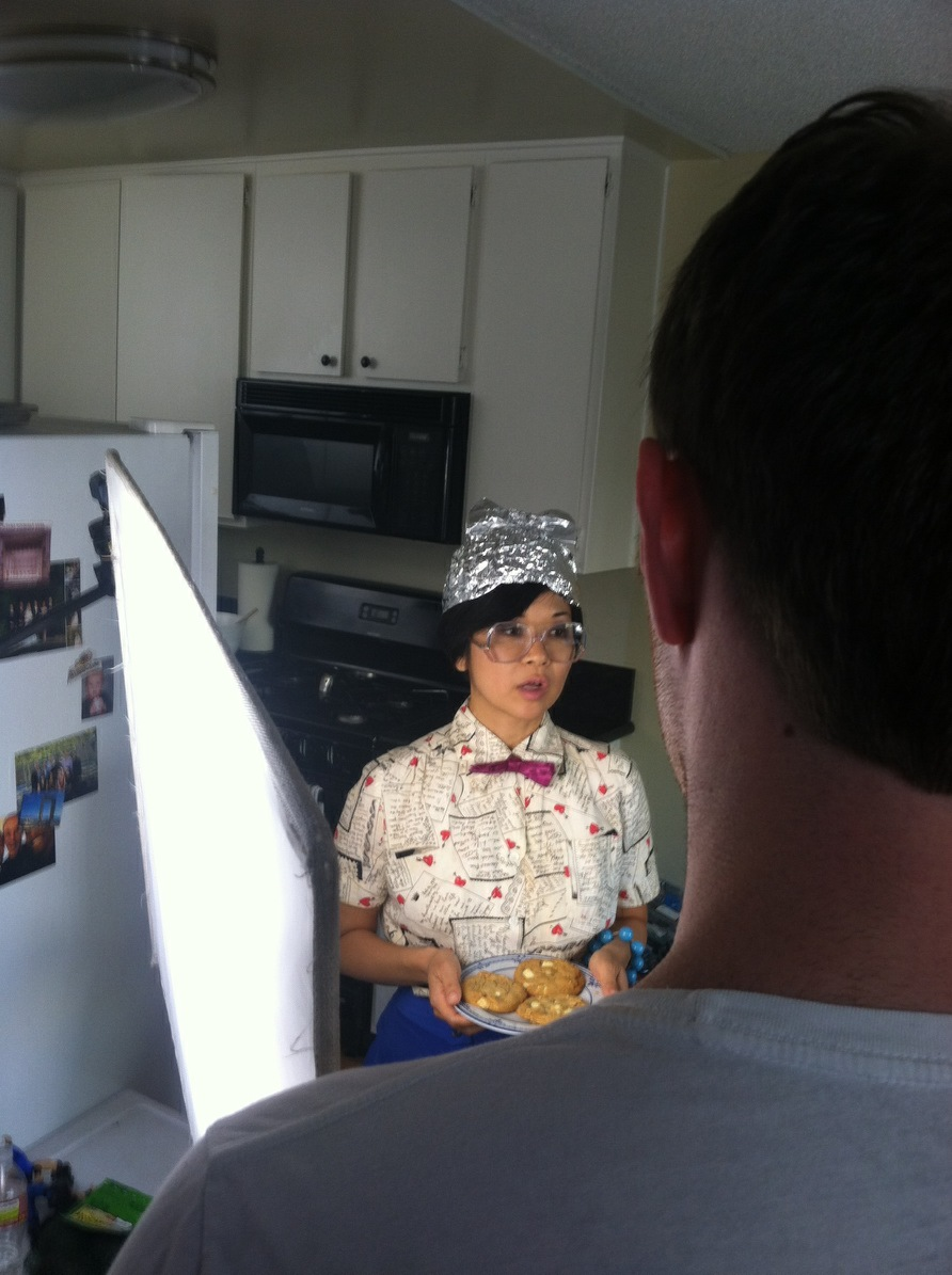 Keiko Ageno as Delia, serving up some nefarious Confusion Cookies.