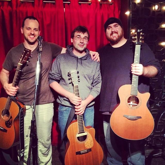 Dylan Ryche, Dallas Sutherland, and me after the show in Toronto