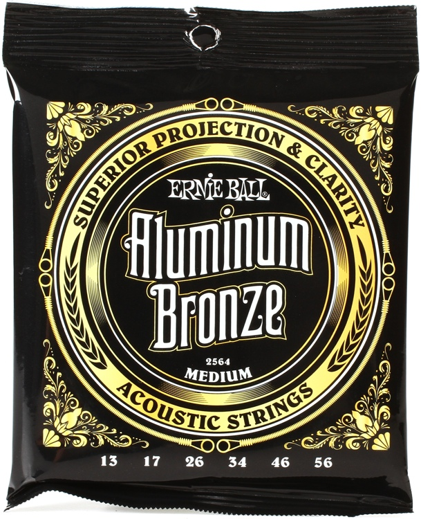 Proud to use and endorse Ernie Ball Aluminum Bronze strings gauged 13-56