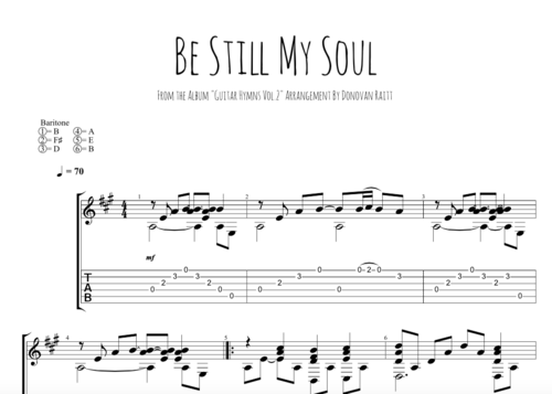 Be Still My Soul Tab Donovan Raitt