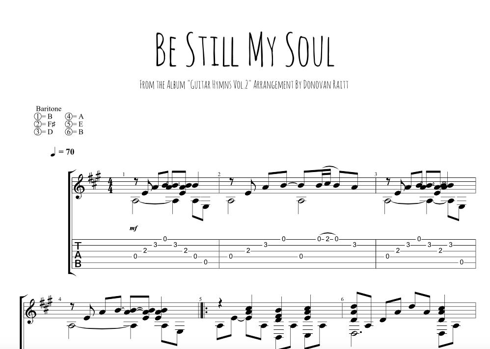 Be Still My Soul - Tab — Donovan Raitt