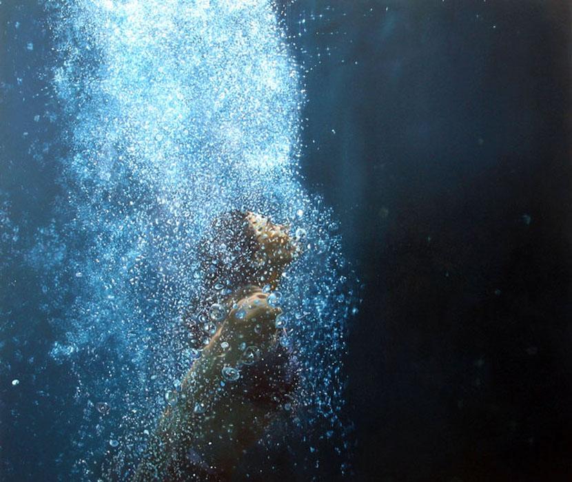 Eric Zener, 'surface', olie op doek (60x70)