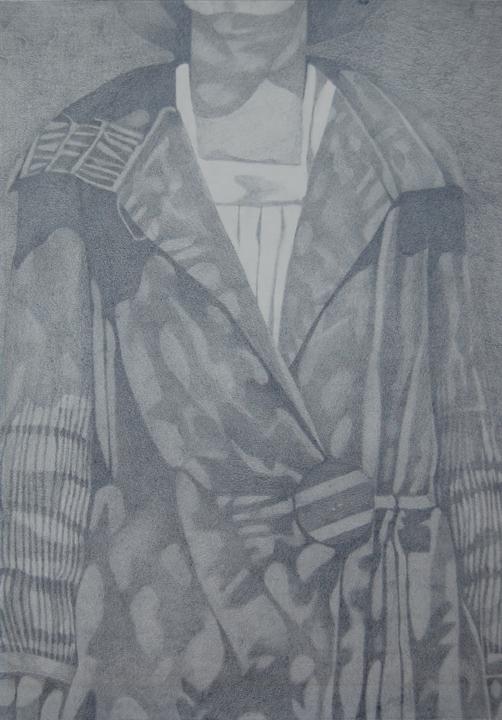 Woman's coat. Graphite 1980.