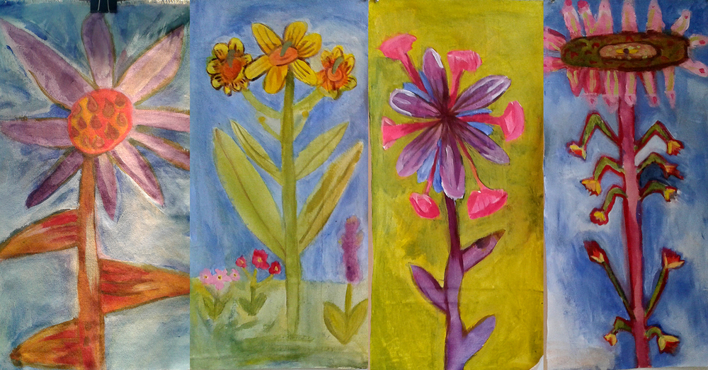 Student paintings from Summer Camp 2014