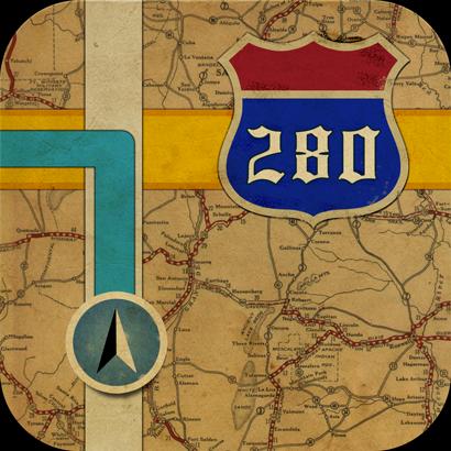 Old Apple maps app icon — Studio A13