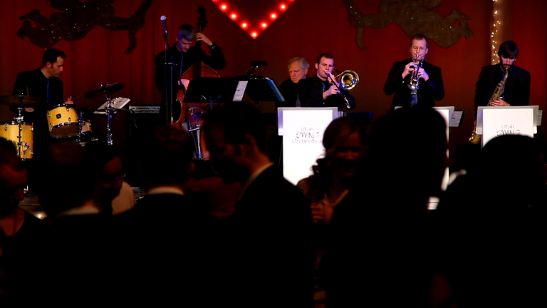 Swing Band playing for a large audience