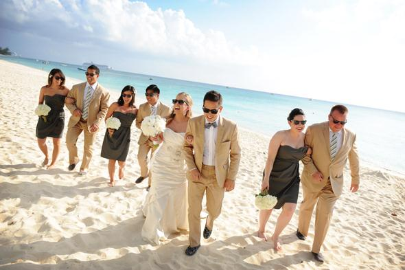 This wedding party had their ceremony on the beach