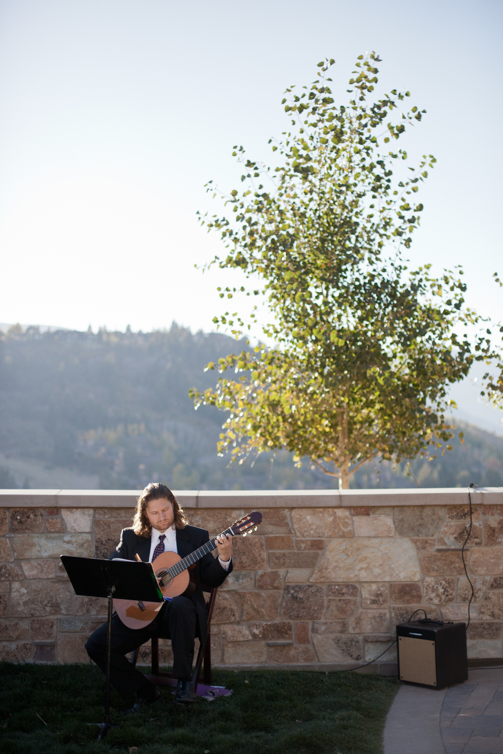 Classical Guitarist for Mountain Ceremony