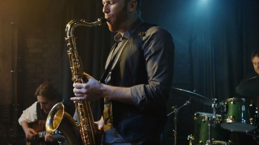 Mike Tobian playing the Sax