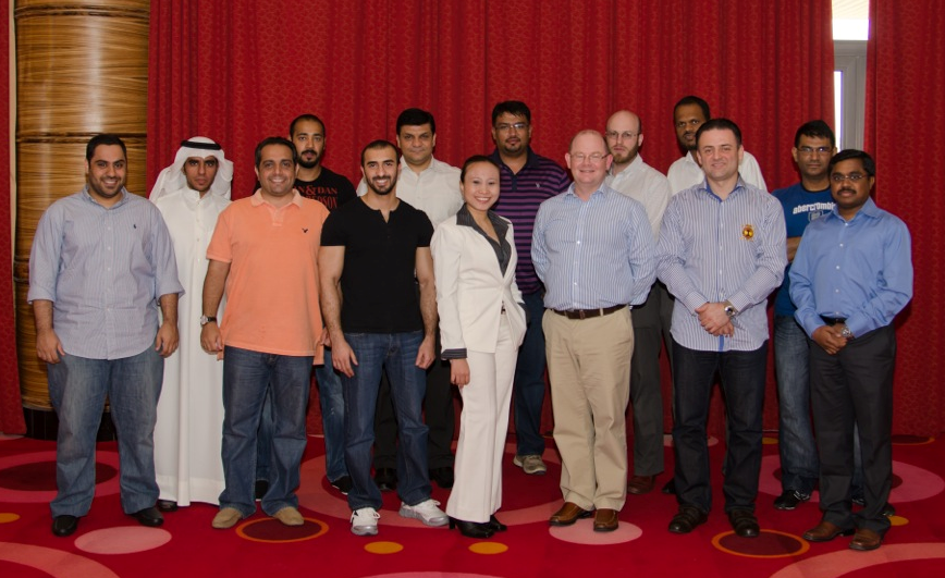 Group picture of the in-house workshop held for Viva Telecom in Kuwait on Advanced Operational Cash Flow & Liquidity Risk Management    Front row from left to right : AbdurRahman Al Mandani (Revenue Accountant ), Ali Al Shammari (Accounts Payable Manager), Fahad Al-Arbeed (Treasury Senior Accountant), Maria Samilin (Zanerva Director of New Ideas), Leon Grandy (Zanerva Partner Consultant), Ramez Sabawi (Treasury Director), D. Sai Venkata Subba Rao (Senior Manager Reporting & Financial Control)    Back row from left to right:  Abdullah Al Fahaed (Financial Reporting Senior Specialist ), Fahad Al Rajbani (Treasury Accountant) Waseem Nawaz (Pricing & Costing Senior Manager), Mubeen Ahmed Karjikar (Accounts Payable Accountant), Mustafa Davies (Financial Control Director), Mohammed Hiflal Ghouse ( Budgeting Senior Manager), Murtada Ahmed (Business Performance Senior Manager)