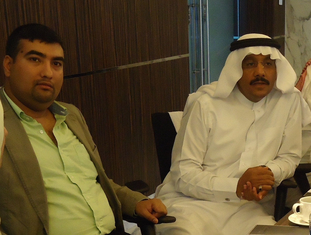 Prasanth J.H. - Manager of Corporate Communications at the UAE Exchange  on the left sitting with  Ali Hamad Al Omari - Senior Customer Service Expert at the Saudi Electricity Company