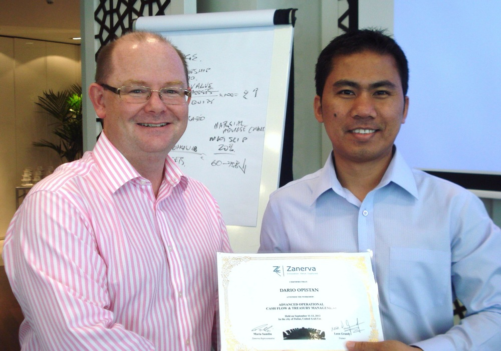 "Dario Opistan, Chief Accountant at Alfardan Automobiles Qatar  receiving his certificate of participation for attending the Advanced Operational Cash Flow & Liquidity Risk Management workshop in Dubai                     0   false       18 pt   18 pt   0   0     false   false   false                                       /* Style Definitions */ table.MsoNormalTable 	{mso-style-name:""Table Normal""; 	mso-tstyle-rowband-size:0; 	mso-tstyle-colband-size:0; 	mso-style-noshow:yes; 	mso-style-parent:""""; 	mso-padding-alt:0cm 5.4pt 0cm 5.4pt; 	mso-para-margin-top:0cm; 	mso-para-margin-right:0cm; 	mso-para-margin-bottom:10.0pt; 	mso-para-margin-left:0cm; 	mso-pagination:widow-orphan; 	font-size:12.0pt; 	font-family:""Times New Roman""; 	mso-ascii-font-family:Cambria; 	mso-ascii-theme-font:minor-latin; 	mso-fareast-font-family:""MS 明朝""; 	mso-fareast-theme-font:minor-fareast; 	mso-hansi-font-family:Cambria; 	mso-hansi-theme-font:minor-latin;}"