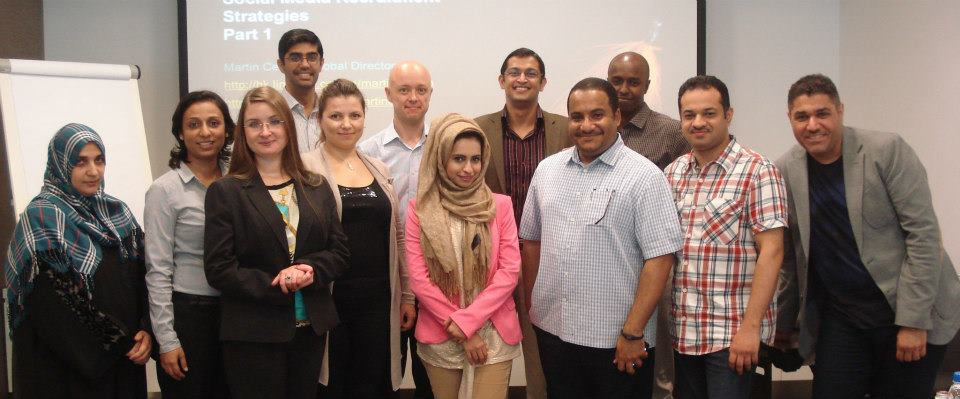 One of our Social Media Recruitment Strategies Workshop in Dubai