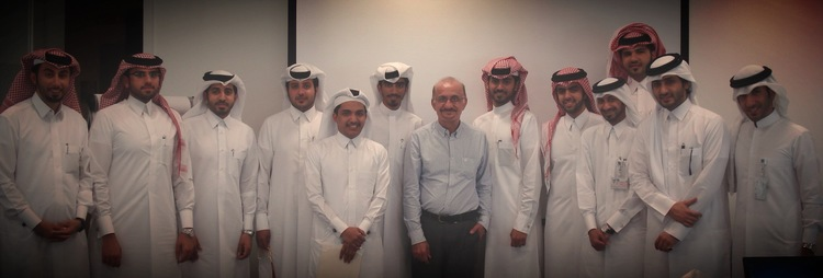 Young gentlemen employees of RasGas in Qatar who attended the in-house training on Essential and Planning Skills for Nationals held at their office.