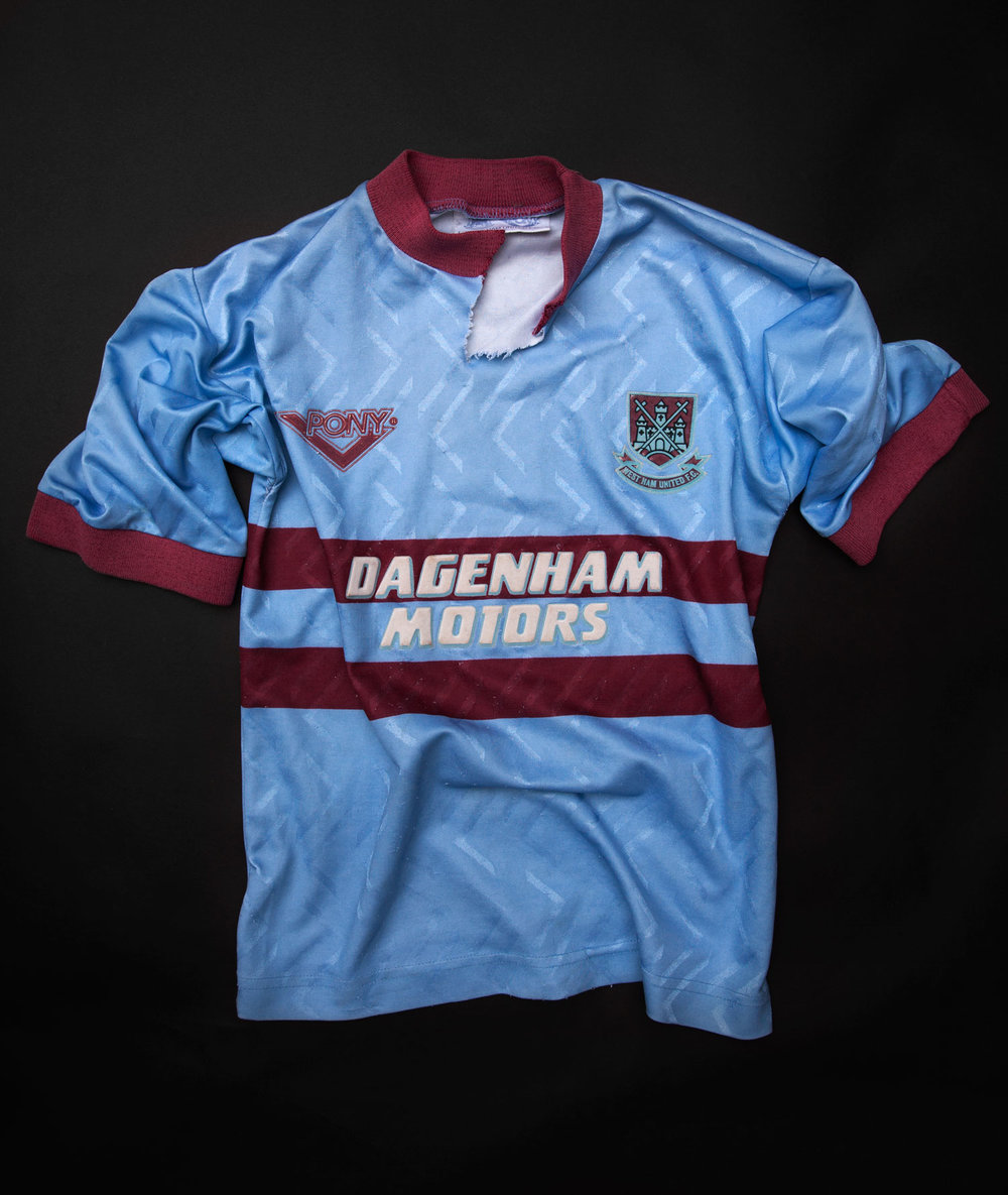 WEST HAM AWAY JERSEY, 1993-95