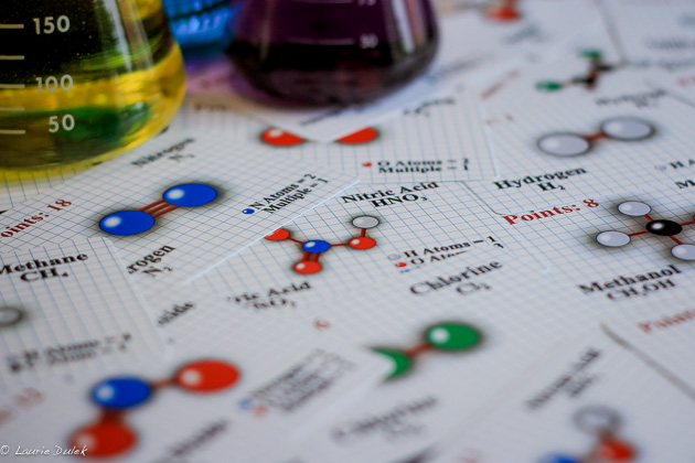 Molecules is a chemistry card game!