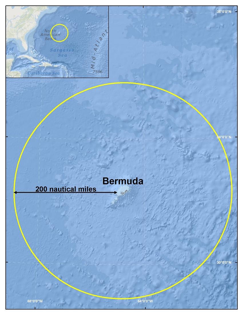 Bermuda's Exclusive Economic Zone (EEZ).