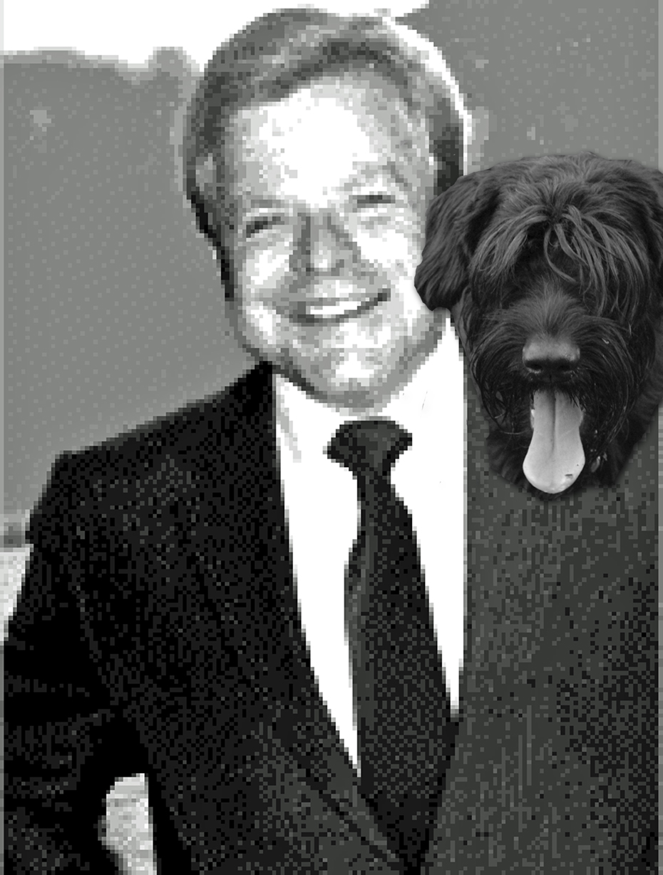 Mr. Jeff Koopersmith and his best friend Barack the Giant Schnauzer.