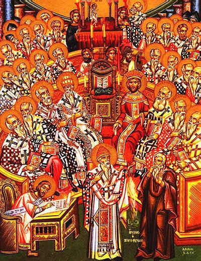The Council of Nicea in 325CE