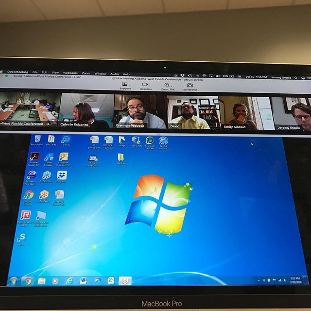 Because I love meetings so much I like to have them virtually :) #conferencecoreteam