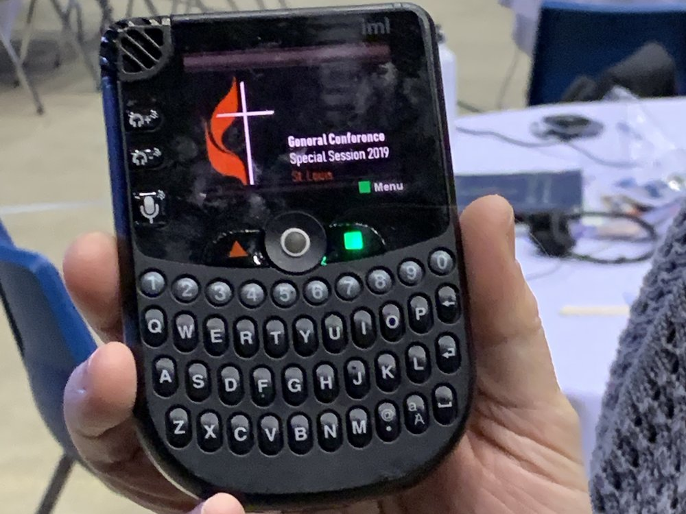 Implement of discernment: a voting device use in the Special Called General Conference  of the United Methodist Church in 2019