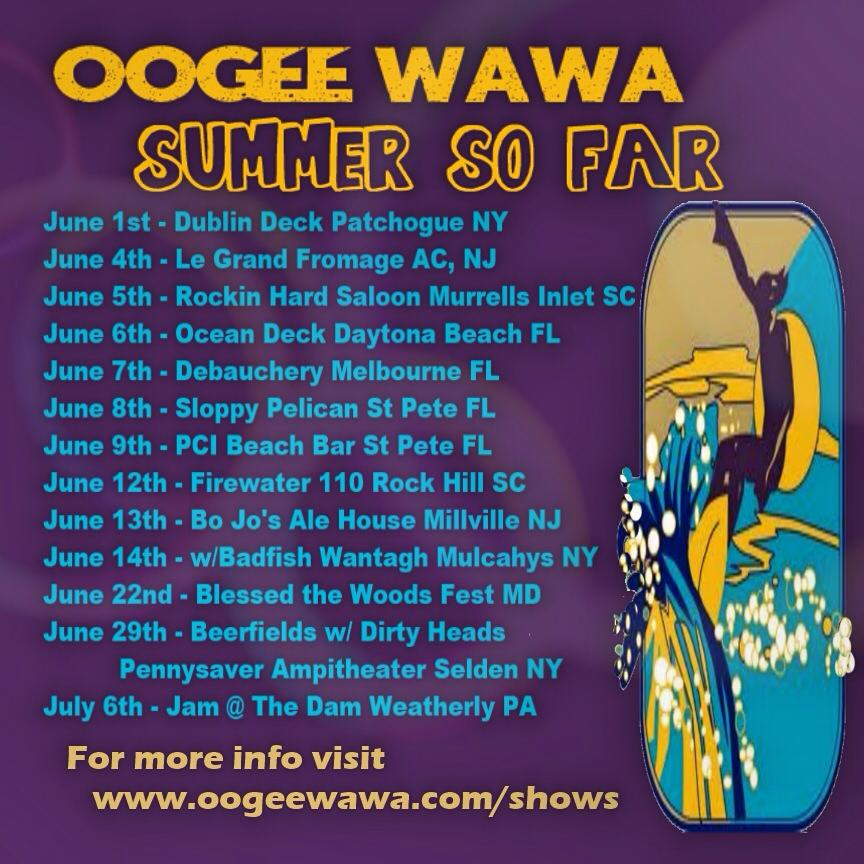 Rescheduled Shows - June 8th - Daytona @ 1 @ Ocean Deck, June 11th - Charleston Beer Works, June 12th - Craze Tavern Duluth GA,
