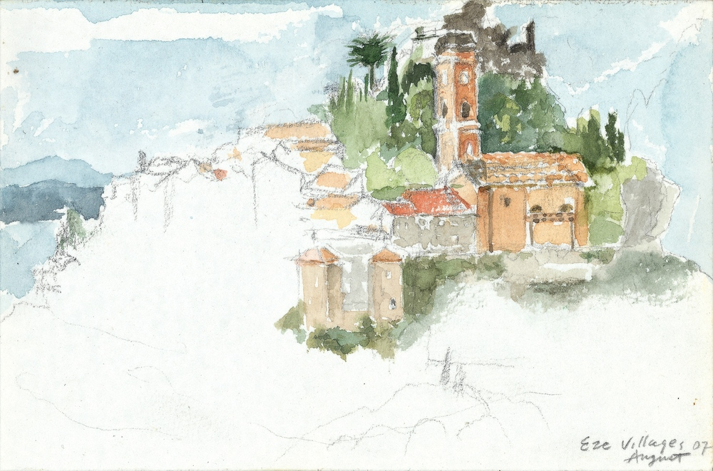 EZE-VILLAGE, WATERCOLOR