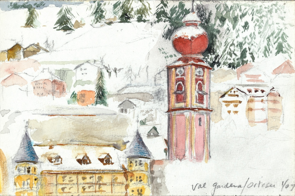 VAL GARDENA, WATERCOLOR