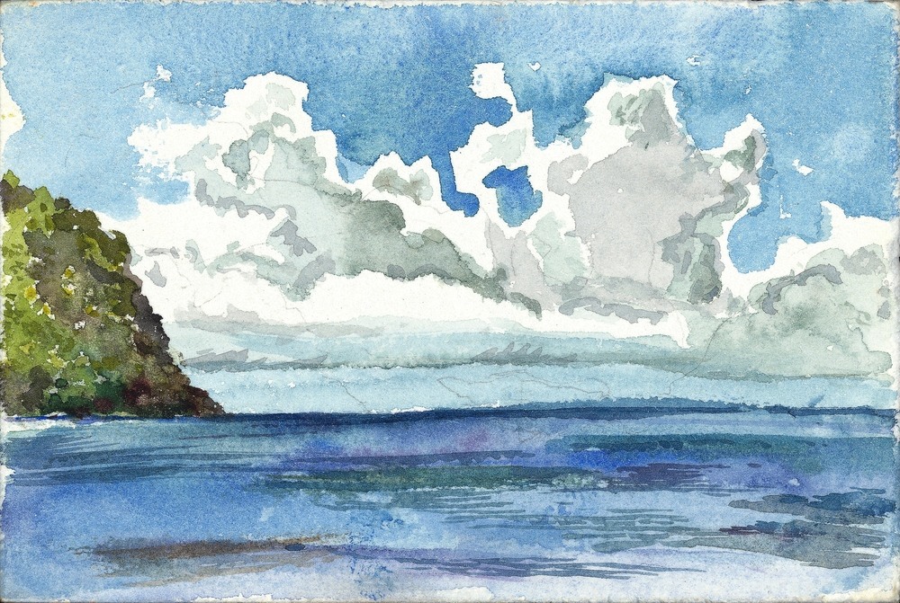 SOUTHERN CARIBBEAN, WATERCOLOR