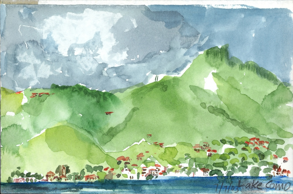 COMO, WATERCOLOR