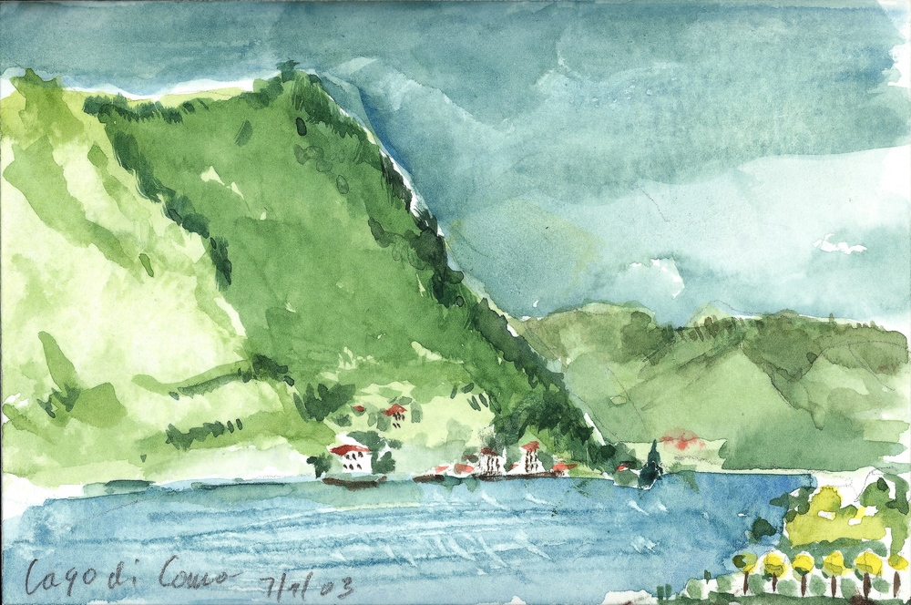 LAGO DI COMO, WATERCOLOR