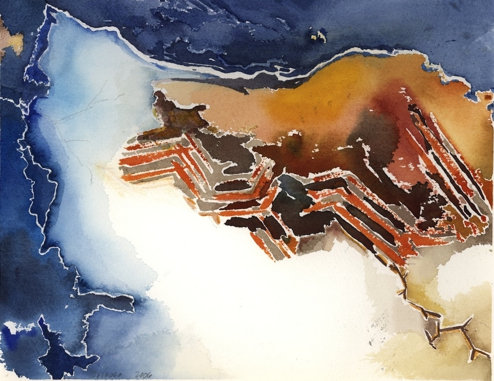 "ORINOCO, 2006, 16""x20"", WATERCOLOR"