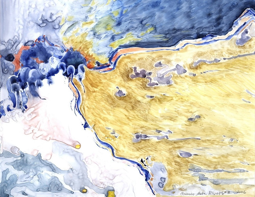 "ORINOCO, META RIVERS #3, 2006, 16""x20"", WATERCOLOR"