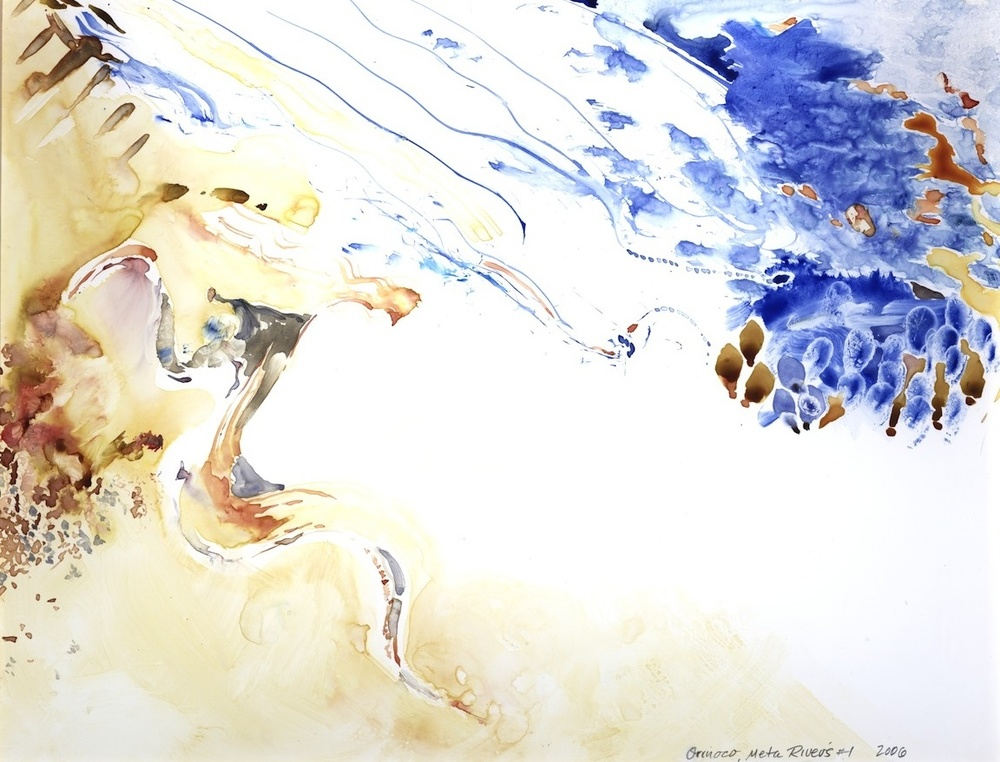 "ORINOCO, META RIVERS #1, 2006, 16""x20"", WATERCOLOR"