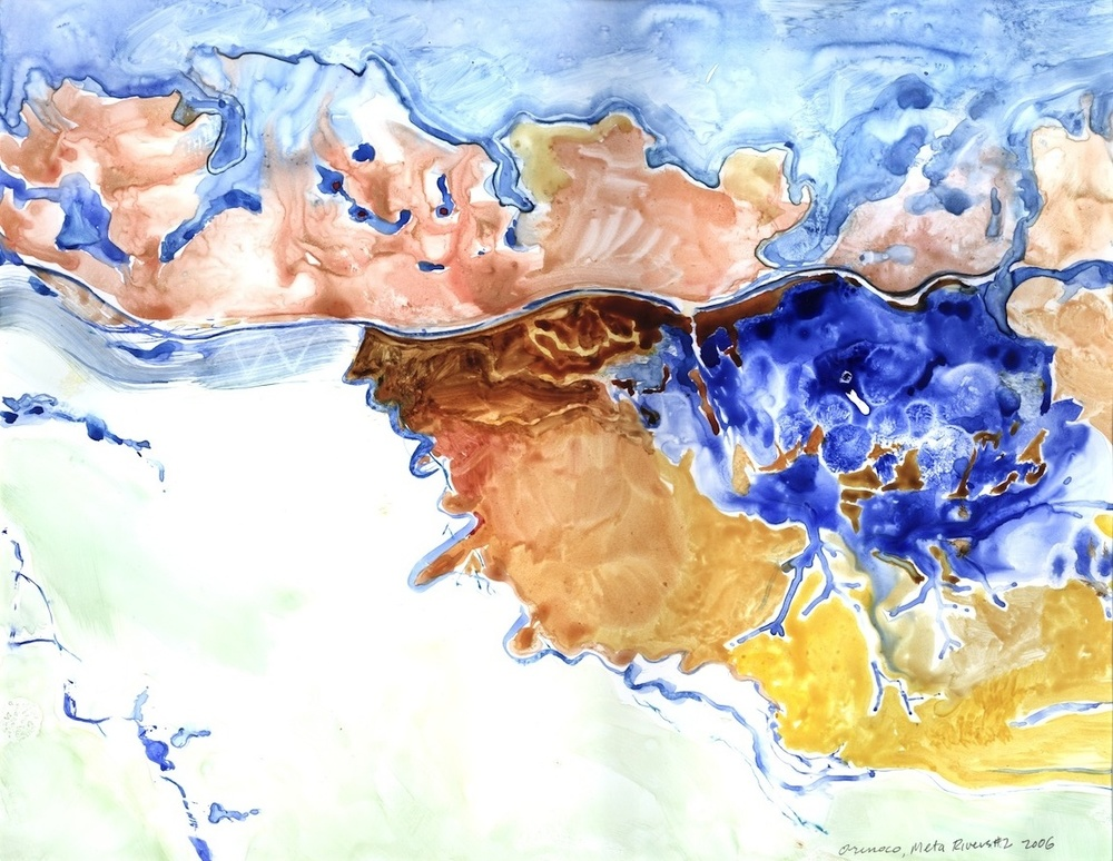 "ORINOCO, META RIVERS #2, 2006, 16""x20"", WATERCOLOR"