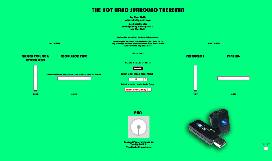 Hot Hand Surround Theremin