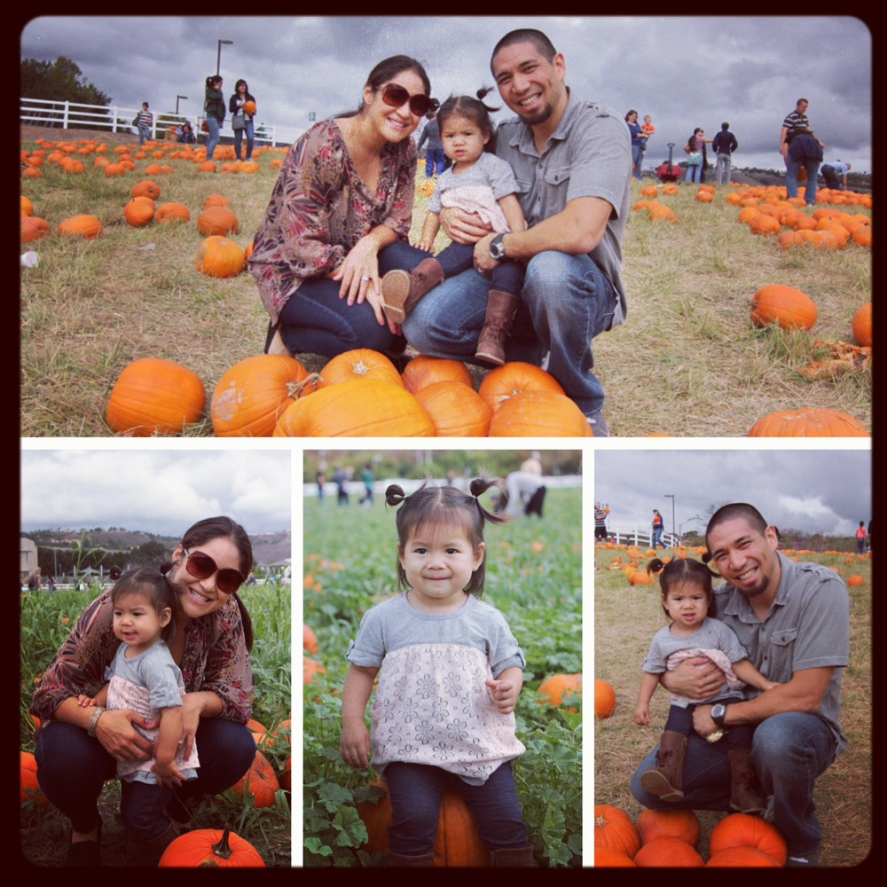 Here's a sample of my family at the pumpkin patch.