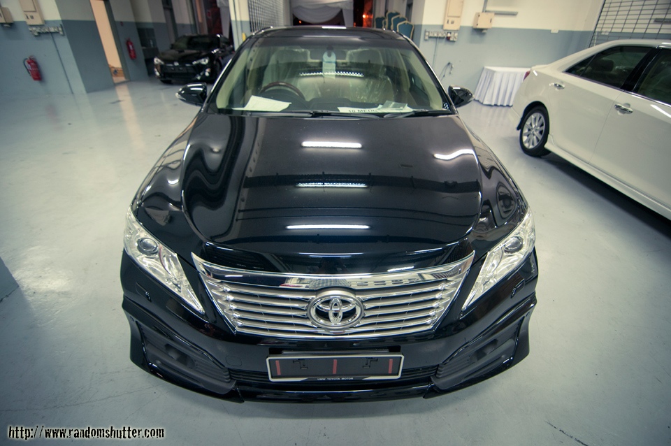 The new camry which was to be unveiled the next day. So shiny its virtually a mirror