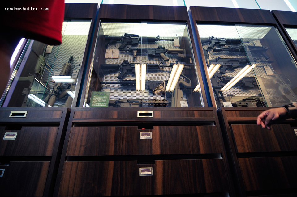 cant recall where was this but they had realistic gun replicas. Not suppose to take photos... but...