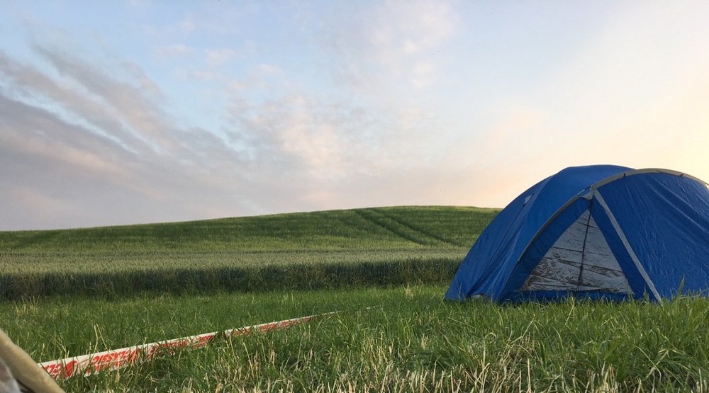 The view from my tent at Camp 1 (Holstenshuus) - What you can't see, to my left, is the husband and wife camping with their black lab, Besta.  She visited me often.