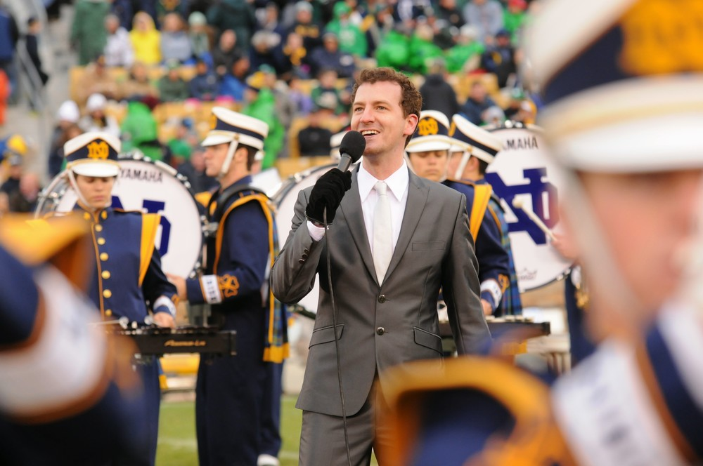 "Singing ""Route 66"" with Notre Dame Band, 2013"