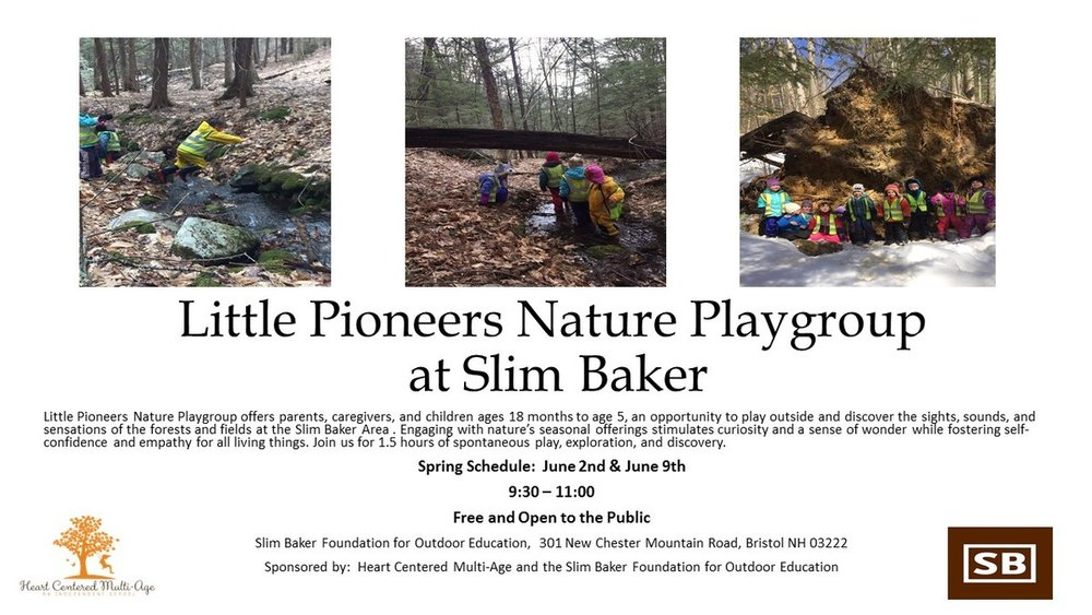 Little Pioneers Nature Playgroup - Friday June 2nd and June