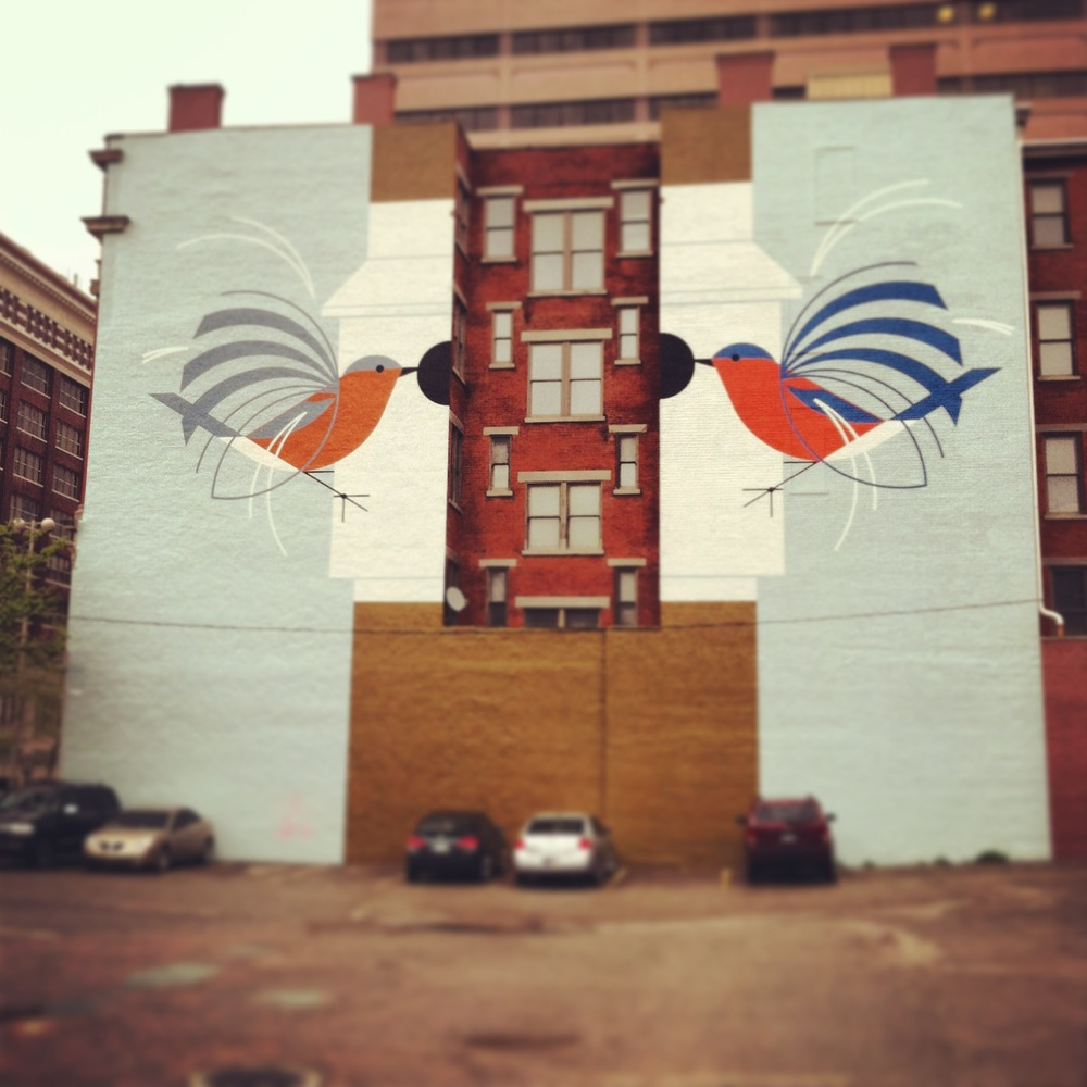 I saw this beautiful mural on my way to and from the Ohio Book Store.
