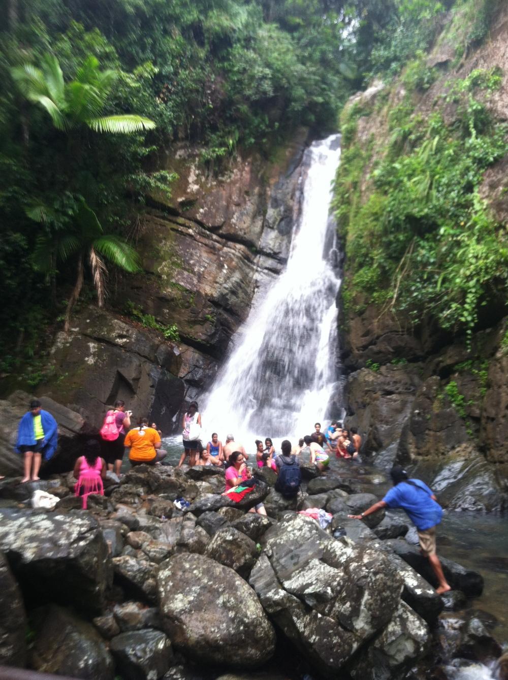 La Mina Falls.