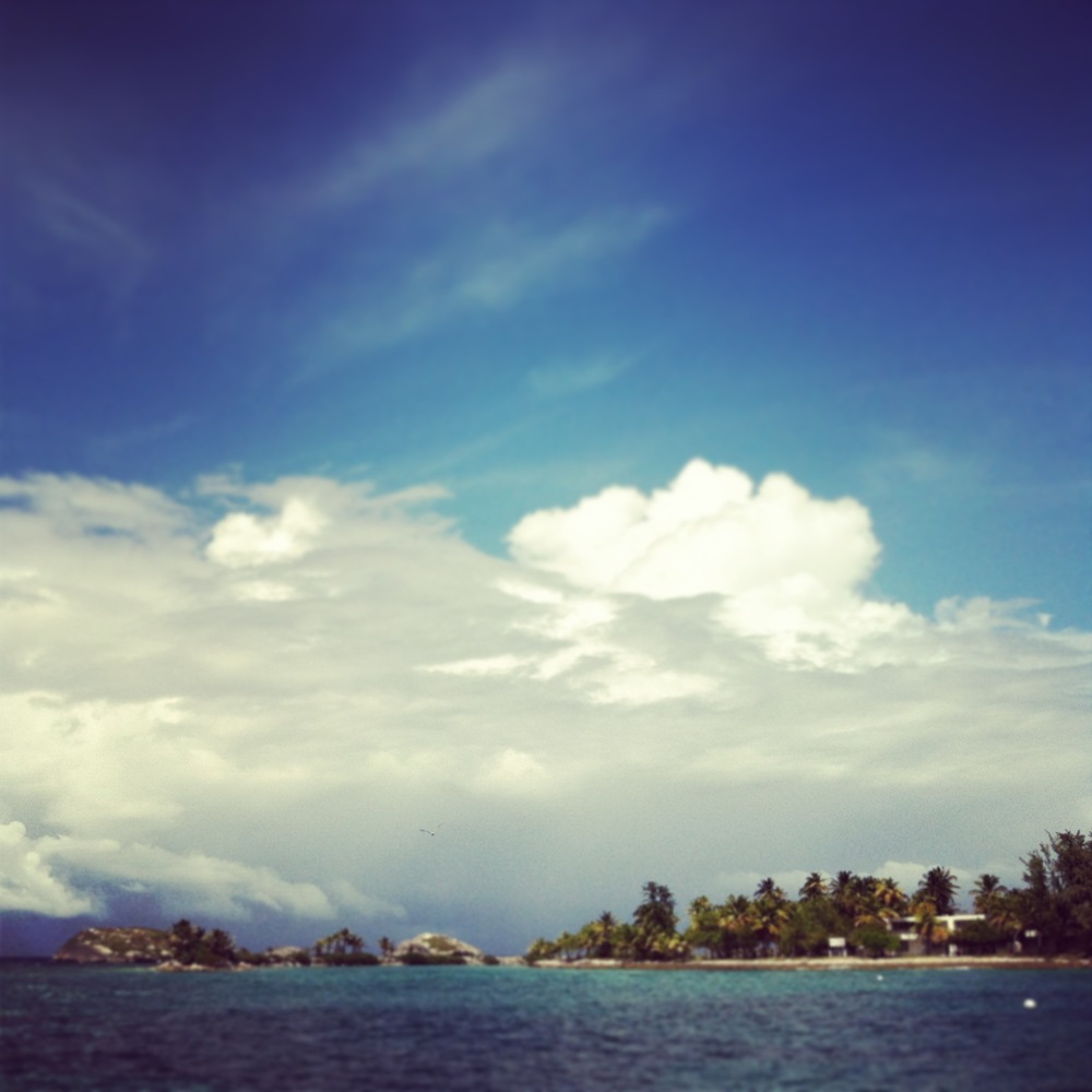 This is a shot taken from a boat of Icaco Island. It was there that we did some snorkeling!