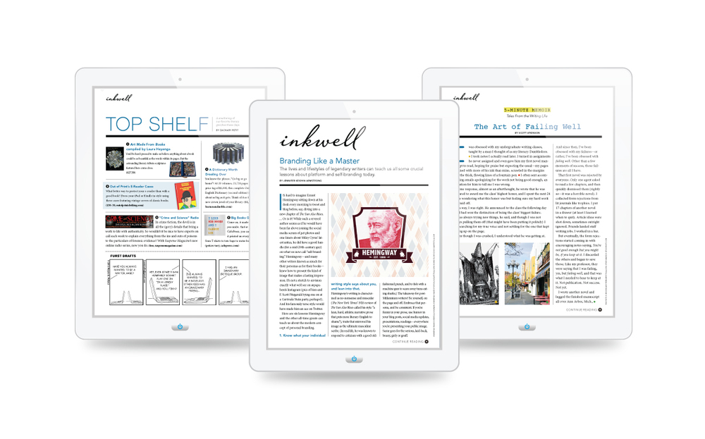 Here are some pages from the Inkwell section of Writer's Digest.