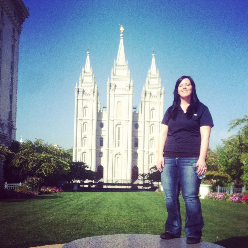 This was me in front of the Salt Lake Temple at  Temple Square !