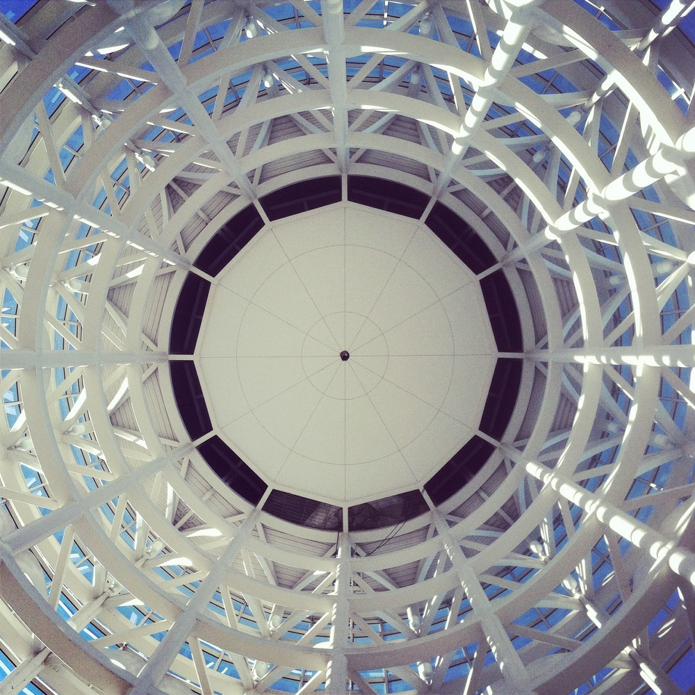 This is a direct look up into the cylinder pictured above at the Salt Palace.