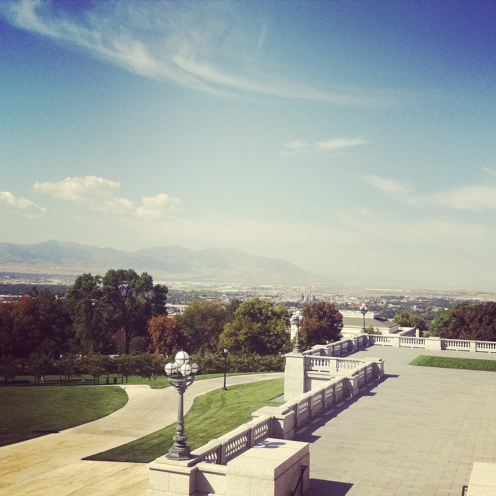 From the Capitol Building, you can see the city of Salt Lake City and the mountains that surround it. Pretty amazing.